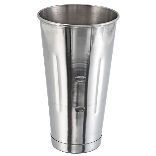 New 30 Oz. (Ounce) Malt Cup, Milkshake Cup, Blender Cup, Cocktail Mixing Cup, Stainless Steel, Commercial Grade, Set of 12 by Winco by Winco