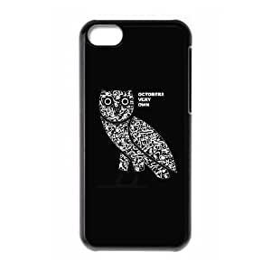 iPhone 5C Phone Case Black Drake Ovo Owl WQ5RT7454472