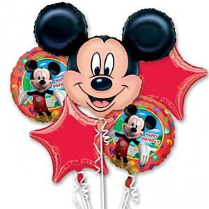Bouquet de globo Mickey Mouse - clasificado papel: Amazon.es ...