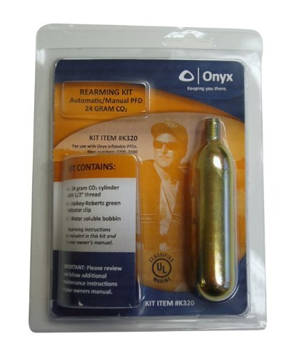Onyx C02 Auto-Manual PFD-Rearming Kit,Metal Cartridge,24 gram