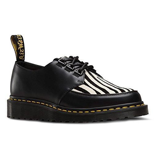 Dr. Martens Mens Ramsey Zebra Leather Shoes Black