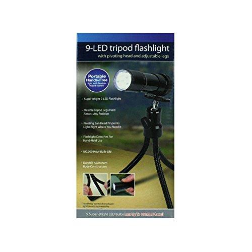 9 Led Tripod Flashlight ()
