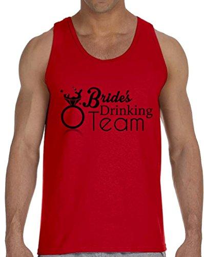 Vizor Men's Bride`s Drinking Team Fashion Tank Tops for Bride's Friends Red - Kardashian Red Khloe Glasses