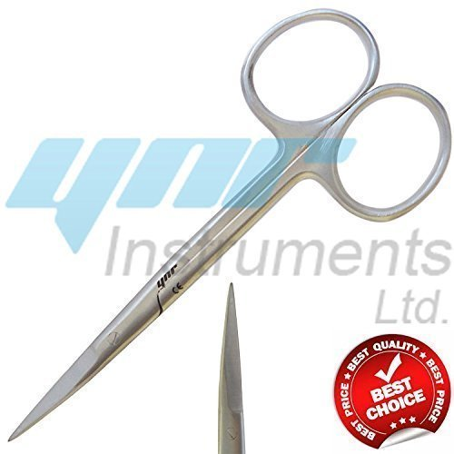 YNR England Moustache and Beard Scissors Moustache Mustache Scissors Baby Hair Trimming Scissors Men Grooming YNR Instruments Ltd
