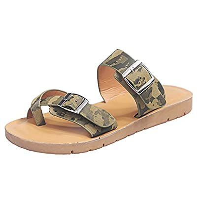 Sandals for Women Platform, Slip on Sandals with Soft Footbed and Buckle Strap Low Platform Slides Gifts for Women: Clothing