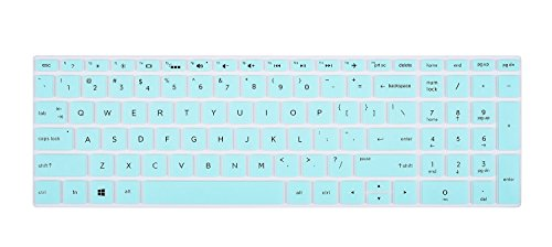 Keyboard Cover for HP 15.6 Touchscreen Laptop 15-BS020WM, 2018 Flagship HP Pavilion 15.6 Notebook, HP 15-CB 15-CC 15-CD 15-CH 15-BW 15-BS X360 15M, 17.3 HP ENVY 17M-AE111DX 17-BS049DX, Mint Green