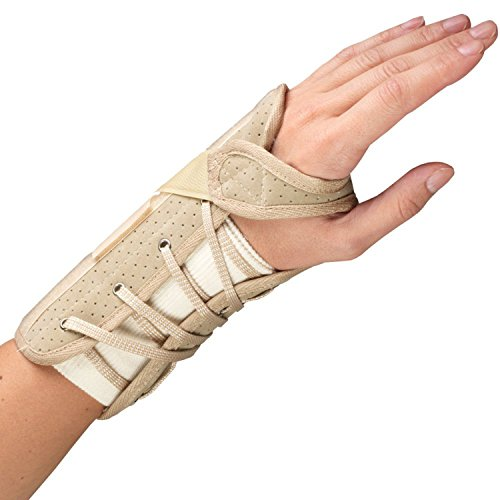 OTC Wrist Brace, Soft-Fit, Suede Finish, Large (Left - Pro Finish Suede