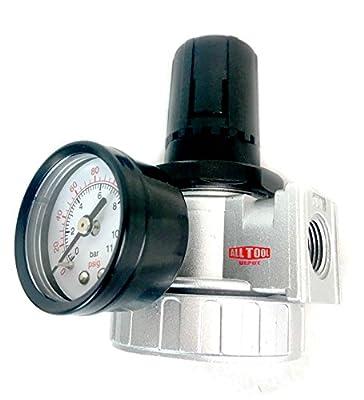"3/8"" Air Pressure Regulator for Compressed Air Compressor w/ Gauge Max 150psi"