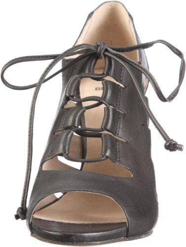Bronx Coral 37 black 83724-A1 - Sandalias de vestir de cuero para mujer Negro