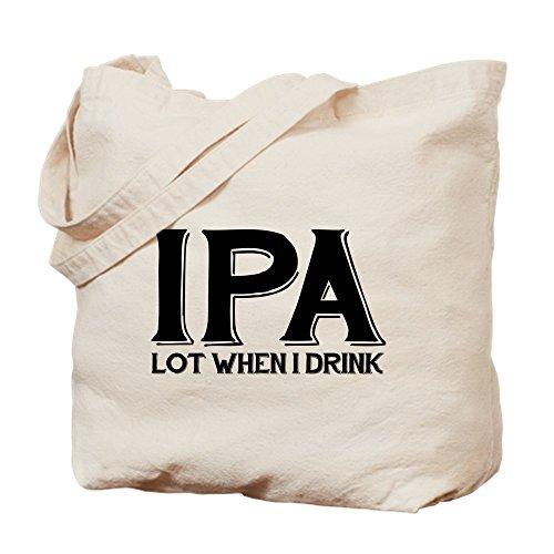 CafePress–IPA Lot cuando me bebida–Gamuza de bolsa de lona bolsa, bolsa de la compra Medium caqui