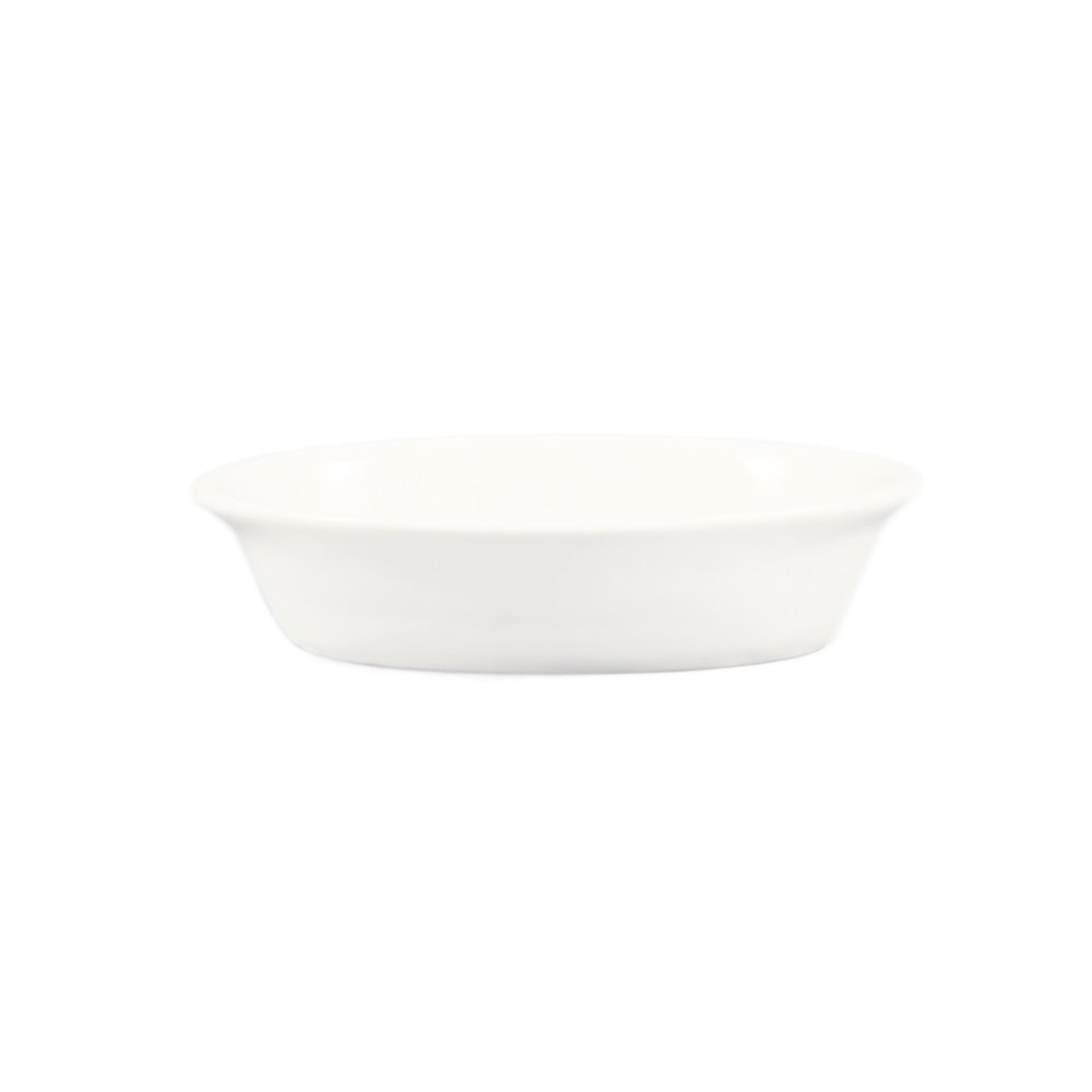 CAC China BKW-9 9-Ounce Porcelain Oval Baking Dish, 6-3/4 by 5-7/8 by 1-1/2-Inch, Bone White, Box of 36
