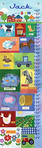 Growing on the Farm by Jill McDonald - Personalized Growth Charts, 12