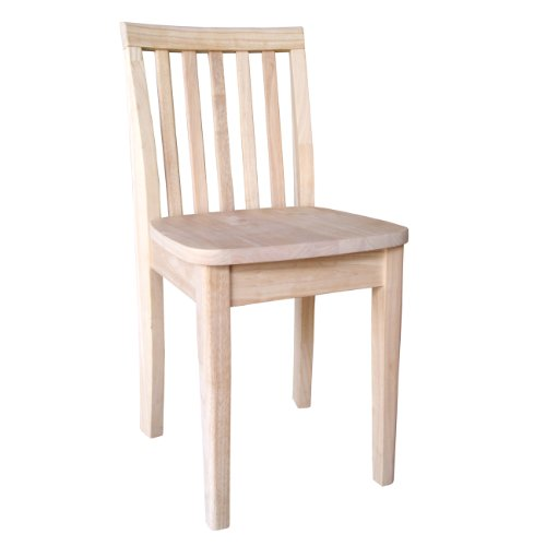 International Concepts Unfinished Juvenile Chair with Box Seat Construction, Set (Unfinished Wood Finish Chair)