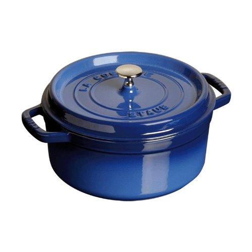 Staub 4 Quart Round Cocotte, Blue
