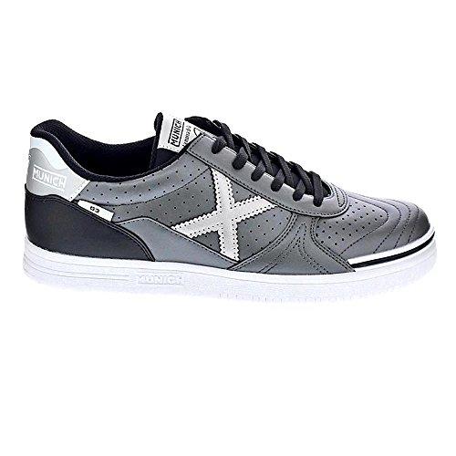 Stiefel München g-3grau/silber glatte Sohle grau