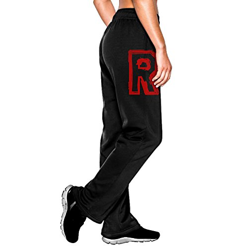 Alone Jogger - MEGGE Women's Team Rocket Drawstring Jogger Pant Black L