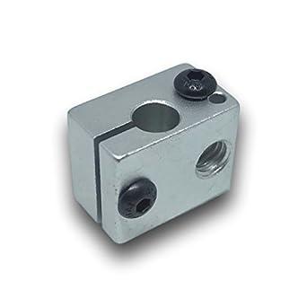 E3D V6 Heizung Alu-block HOTEND Extruder Block Heizblock RepRap prusa 3d Drucker
