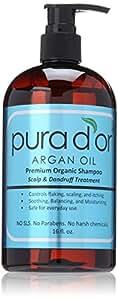 PURA D'OR Scalp & Dandruff Premium Organic Argan Oil Treatment Shampoo, 16 Fluid Ounce