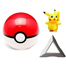 2.8 Inch ABS Pokemon Pokeball Cosplay Pop-up Poke Ball With Holder Fun Toys Kids Children Toy