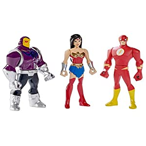 41rtgfVFOuL. SS300 DC Justice League Action Mighty Minis Wonder Woman, The Flash, & Mongul Mini Figures, 3 Pack