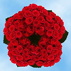 250 Fresh Cut Red Roses | Paris Roses | Fresh Flowers | Perfect for Valentine's Day Birthdays, Anniversary or any occasion.