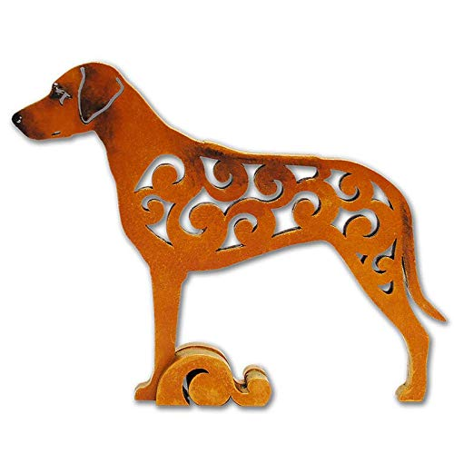 Rhodesian Ridgeback dog figurine, dog statue made of wood (MDF), statuette -