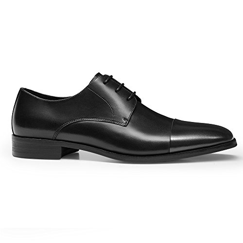 Oxfords Leather GIFENNSE 3 Dress up Handmade Men's Perforated Classic Lined Modern Leather Black Lace Shoes 00PFZx