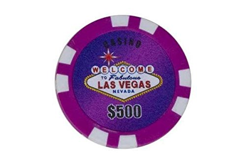 500 Piece Poker Game (StealStreet SS-CQG-2600MG-PRPL 25 Piece 500 Dollar