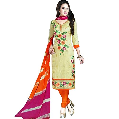 Ready Made Beautiful Cotton Embroidered Salwar Kameez Suit
