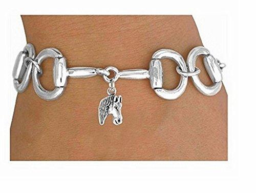 Bit-link Bracelet & Horse Head Charm by Lonestar Jewelry