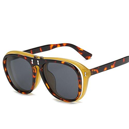 mm B 142 y de hombres sol mujeres creativas gafas europeos americanos sol de double flip punk 54 Gafas y NIFG para 142 RgxTqZwn1R