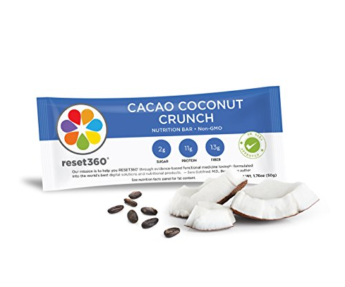 Protein Bar Cacao Coconut Crunch from Dr Sara Gottfried author of The Hormone Reset Diet