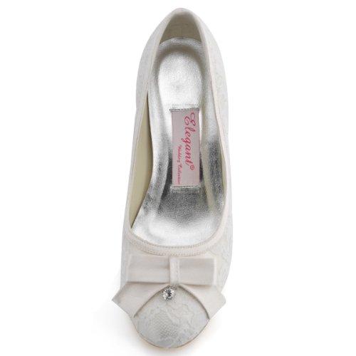 Mujer Vestir Marfil Elegantpark Zapatos Satén De nYZRZw
