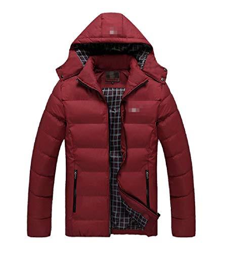 Howme Hoode Jacket Winter Men Fit Outdoor Relaxed Coat Wine Oversized Red Warm 0EErx