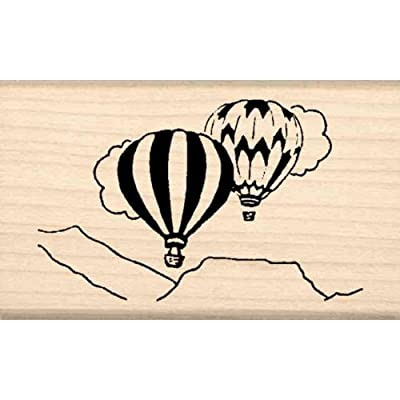 Stamps by Impression Hot Air Balloons Rubber Stamp: Arts, Crafts & Sewing