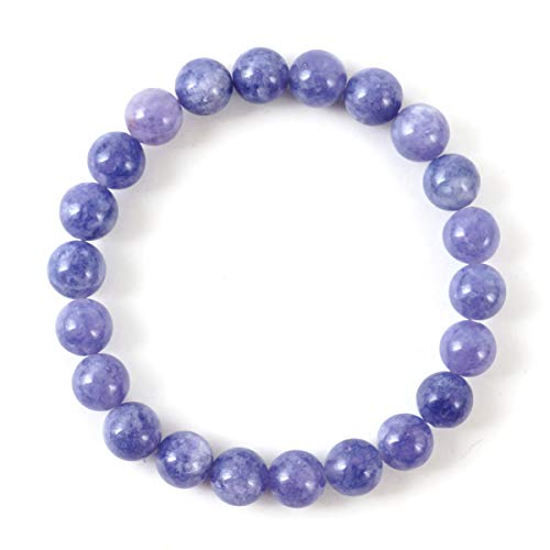 - Opague Tanzanite Quartz Gemstone Bracelet 7.5 inch Stretchy Chakra Gems Stones Healing Crystal Great Gifts (Unisex) GB8B-46