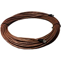 RiteAV - 50 FT Cat6 Brown Ethernet Network RJ45 Patch Cord (Pure Copper) (Connectors and Boots Installed)