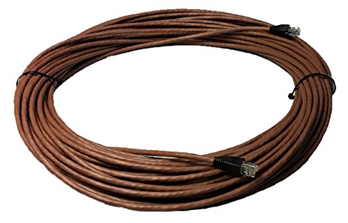 RiteAV - 50 FT Cat6 Brown Ethernet Network RJ45 Patch Cord (Pure Copper) (Connectors and Boots Installed) (Brown Cat6 Patch Cable)