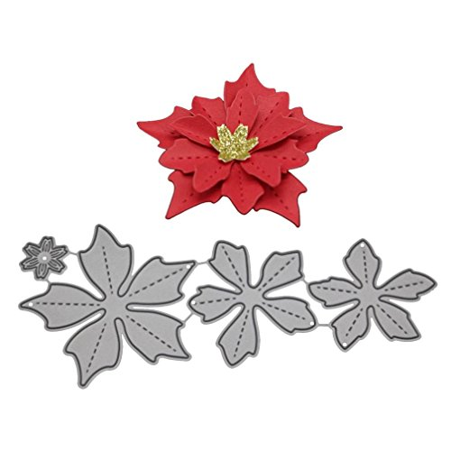 Newest Arrivals! Metal Cutting Dies Flower Embossing Stencil Template for DIY Scrapbooking Album Paper Card Craft Decoration By E-SCENERY (C) ()