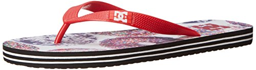 DC Shoes Spray Graffik - Sandalias para hombre multicolor - Multicolore (Athletic Red/Oyster)