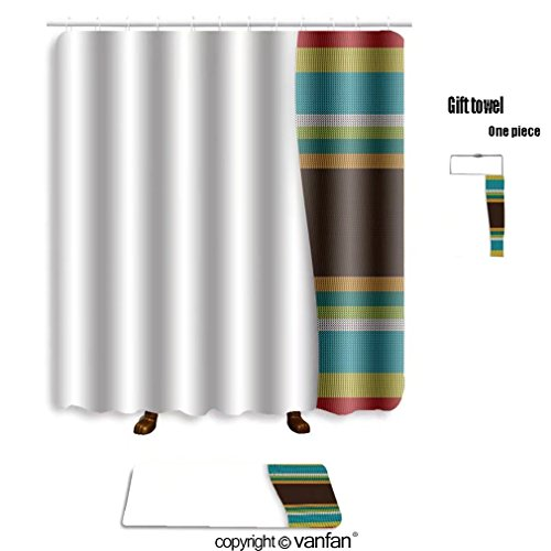 vanfan bath sets with Polyester rugs and shower curtain template design for billboard or banner vecto shower curtains sets bathroom 54 x 78 inches&23.6 x 15.7 inches(Free 1 towel and 12 hooks)