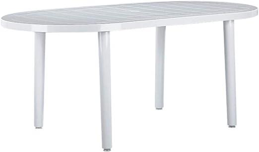 resol Mesa de jardín Exterior Rectangular Brava 180x90 - Color Blanco: Amazon.es: Hogar