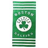 The Northwest Company NBA Striped Beach & Bath Towel 30'' x 60'' (Boston Celtics)