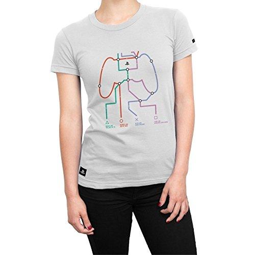 Camiseta Playstation Feminina Play Lines - Branco - Gg