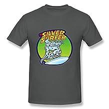 PASSIONC Men's Marvel Comics Silver Surfer T-shirt DeepHeather L