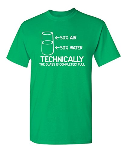 Technically The Glass is Completely Graphic Cool Novelty Funny Youth Kids T Shirt YXL Irish (Green Irish Boys Love)