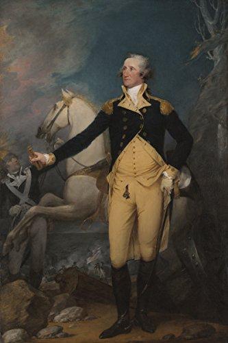 George Washington Portrait - John Trumbull - George Washington before the Battle of Trenton, Canvas Art Print, Size 16x24, Non-Canvas Poster Print
