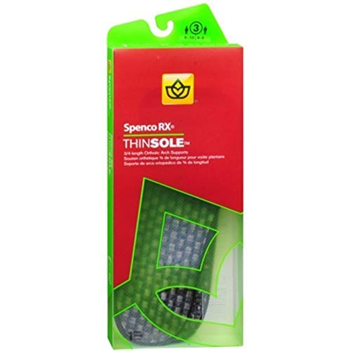 Spenco RX ThinSole Orthotics 3/4 Length #3 1 Pair (Pack of 2)