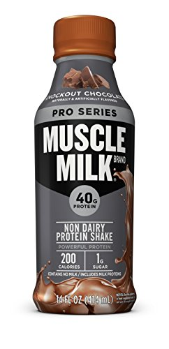 (Muscle Milk Pro Series Protein Shake, Knockout Chocolate, 40g Protein, 14 FL OZ, 12)
