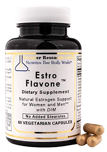 PREMIER RESEARCH LABS Estro Flavone - Advanced Hormone Support for Women and Men (60 Capsules)